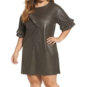 ELVI Ruffle Shift Dress
